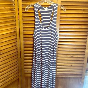 J Crew Factory Racerback Maxi with Side Slits